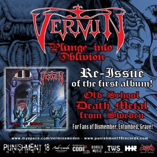 """Vermin """"Plunge Into Oblivion"""" reissue"""