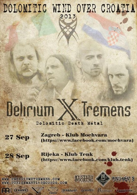 Delirium X Tremens: Dolomitic Wind Over Croatia Live