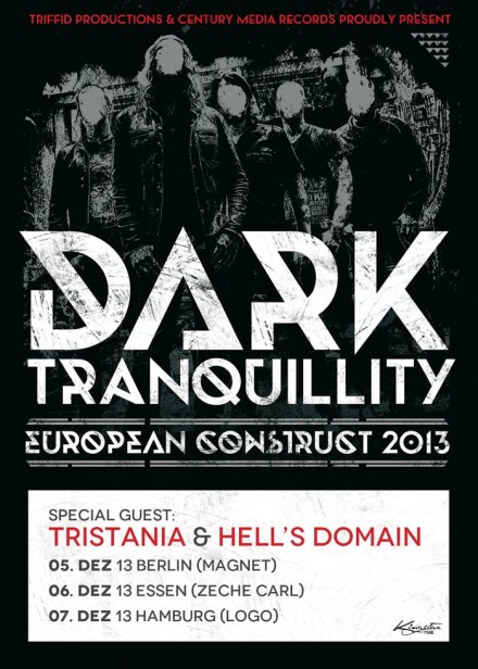 Hell's Domain on tour with Dark Tranquillity!
