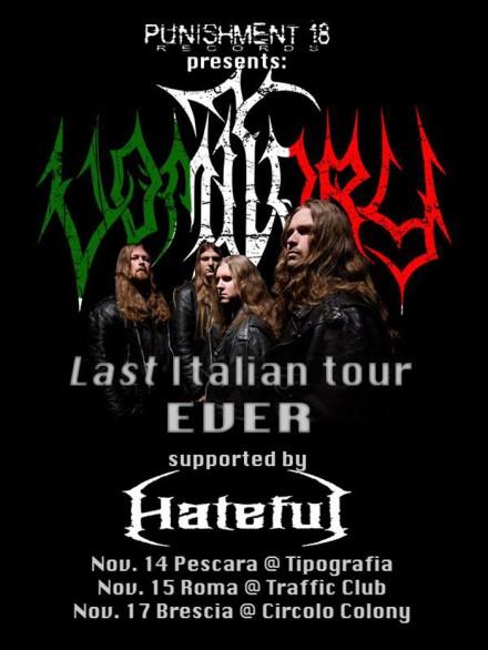 Vomitory last Italian tour ever!