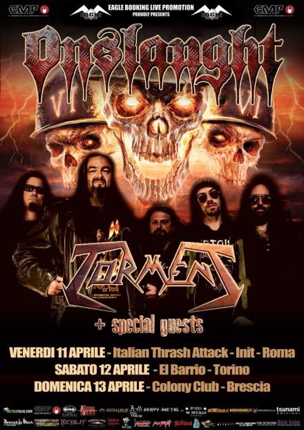 Torment: tre date in Italia di supporto agli Onslaught!