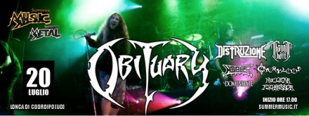 "Nuclear Aggressor and Dominhate: Support Obituary at ""Summermusic Festival"""