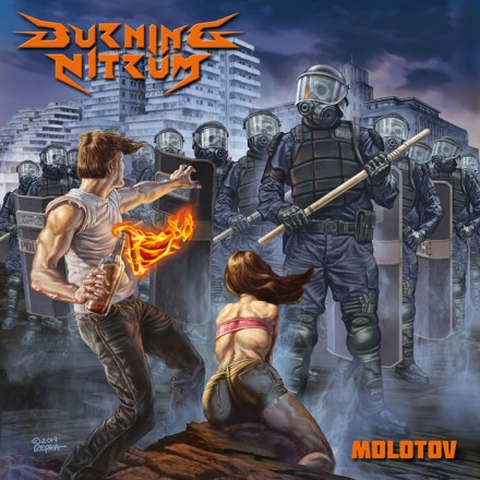 Burning Nitrum: 'Molotov' artwork by Ed Repka