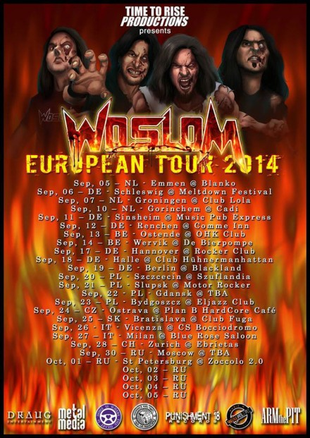 Woslom: Third European tour is announced!