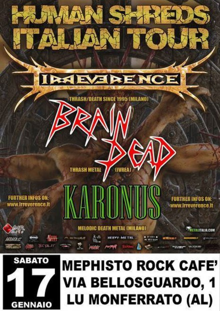 "Brain Dead: Live at ""Human Shreds Italian Tour"""