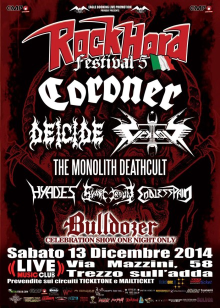 Rock Hard Festival Italia 2014: Bulldozer special show and Hyades on stage!