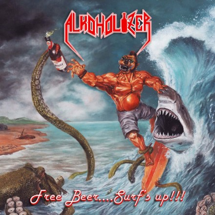 Alkoholizer: 'Free Beer…. Surf's Up!!!' cover album
