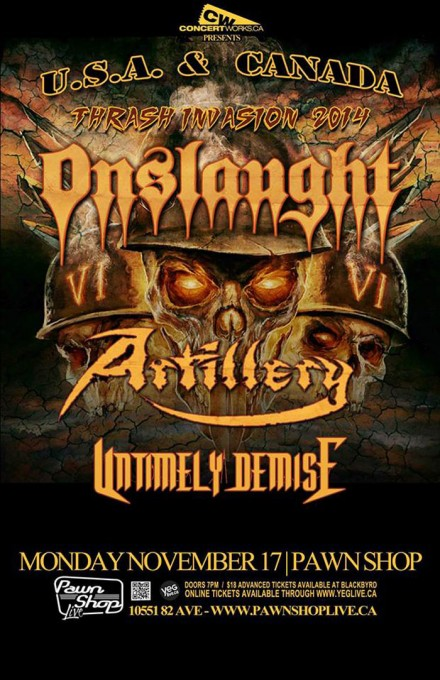 """Untimely Demise: Live with Onslaught & Artillery at """"Thrash Invasion 2014″"""