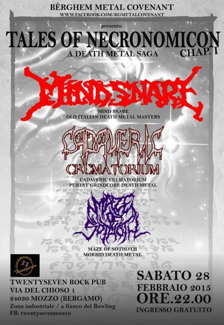"Mind Snare and Cadaveric Crematorium Live at ""Tales Of Necronomicon"""