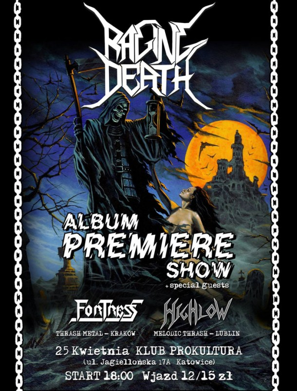Raging Death: album premiere show in Katowice