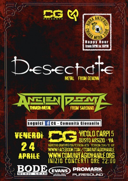 Ancient Dome: Live with Desecrate