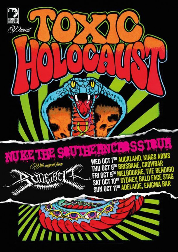 "In Malice's Wake: Support Toxic Holocaust at ""Nuke the Southern Cross"" tour!"