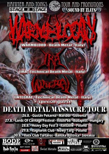 """Warmblood: """"Death Metal Massacre Tour"""" Live"""
