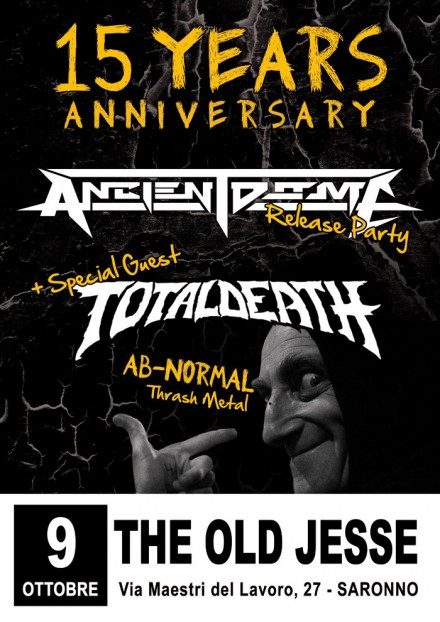 "Ancient Dome: ""15 Years Anniversary Release Party"""