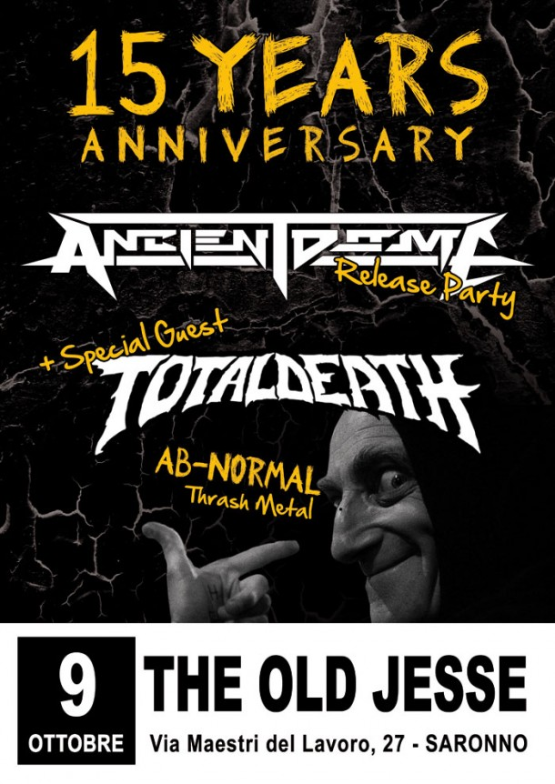 """Ancient Dome: """"15 Years Anniversary Release Party"""""""