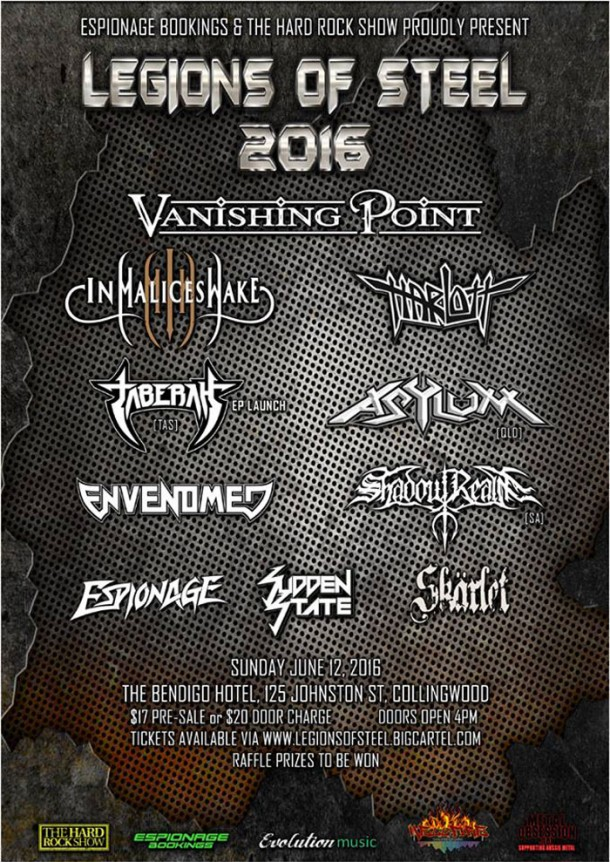"In Malice's Wake & Envenomed live at ""Legions Of Steel 2016″"