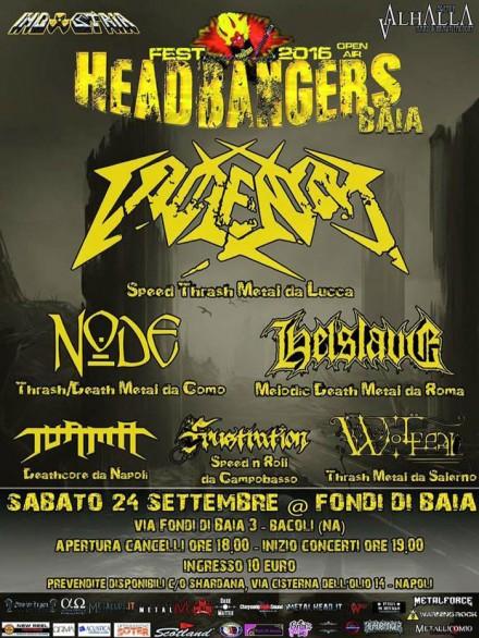 Node: to co-headline the Headbangers Baia Festival in Naples!