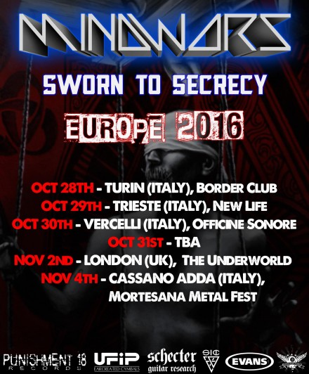 Mindwars: European tour dates