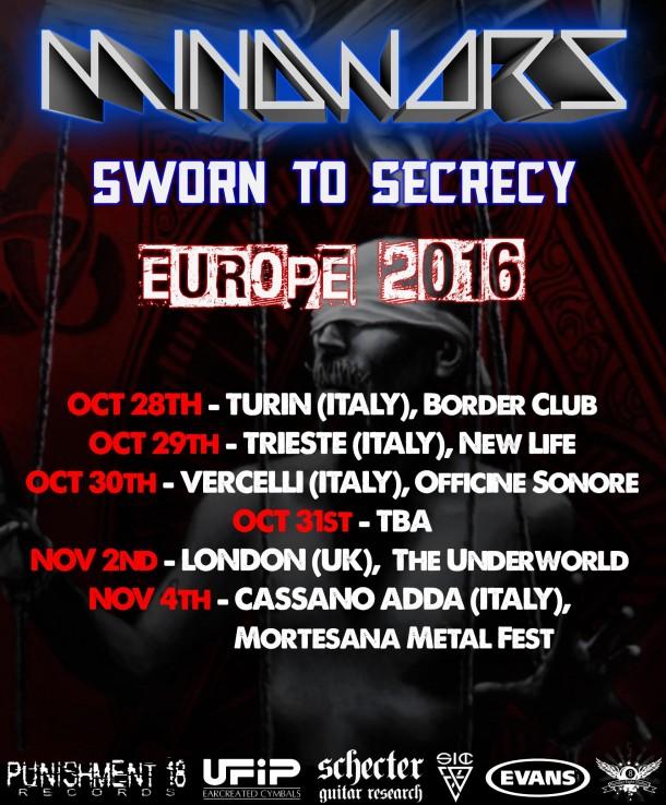 Mindwars: European tour dates