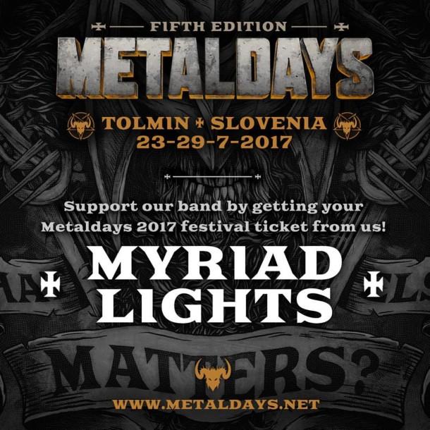 Myriad Lights: live at Metaldays