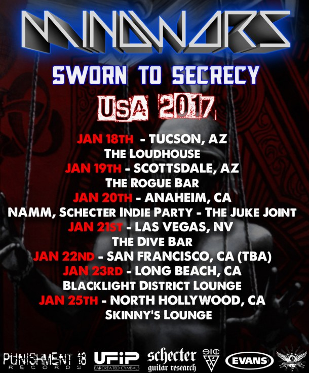 Mindwars: US Winter Tour 2017 dates announced