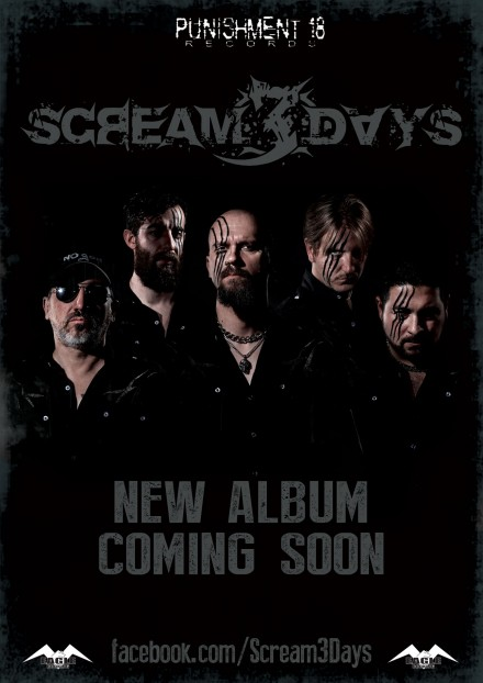 SCREAM 3 DAYS: signs with Punishment 18 Records