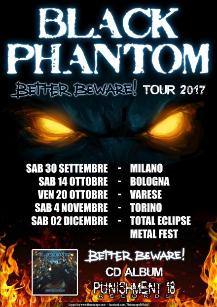 Black Phantom: autumn tour and new drummer!