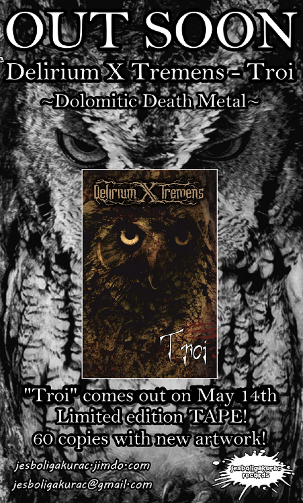"Delirium X Tremens: exclusive tape limited ed. for ""Troi"""