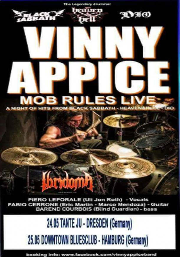 Ibridoma: will support Vinny Appice band!