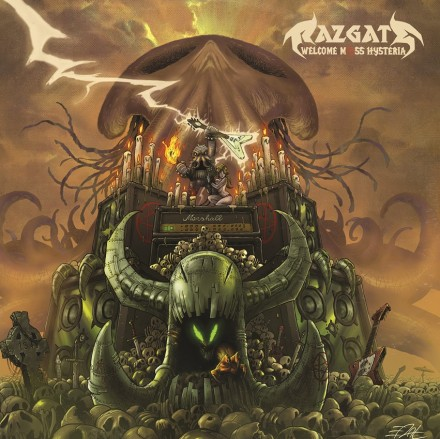 "Razgate: ""Welcome Mass Hysteria"" front cover"