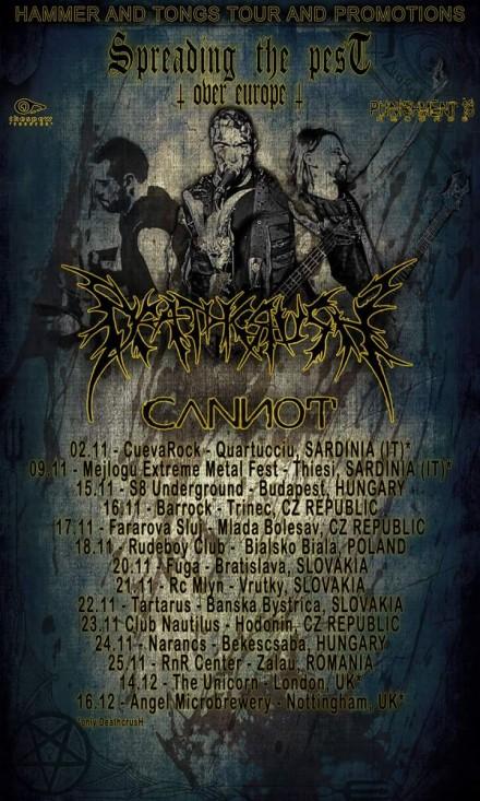Deathcrush: European tour dates announced!