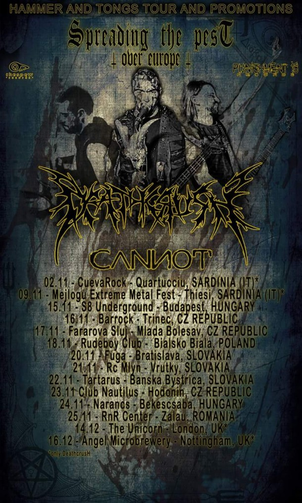 Deathcrush: European tour dates announced!
