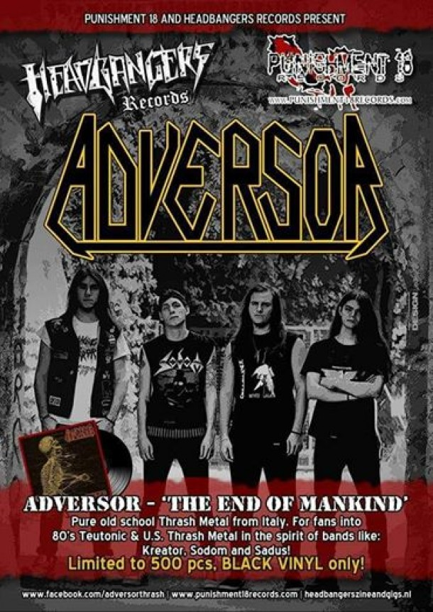 "Adversor: ""The End Of Mankind"" vinyl limited ed. available!"
