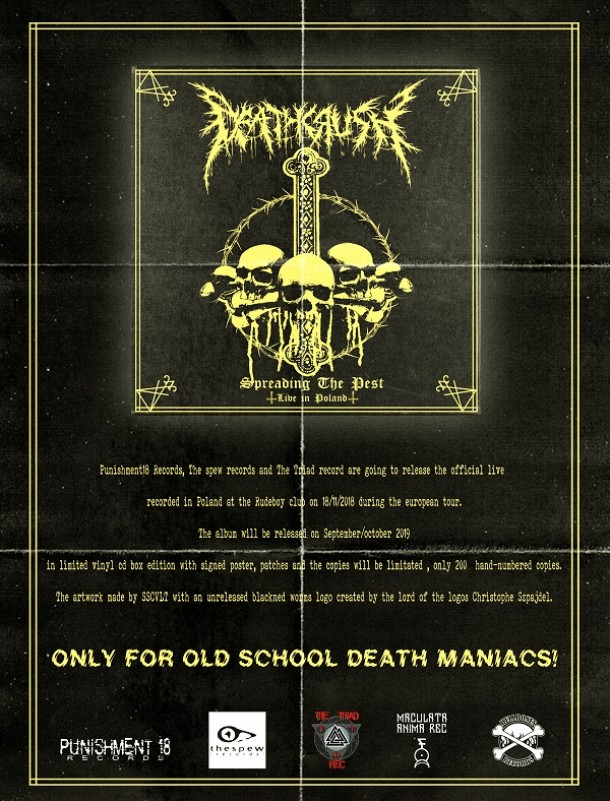 "Deathcrush: ""Spreading the pest – live in Poland"" lim. ed. available next fall"