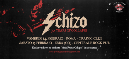 "Schizo: ""Main Frame Collapse"" 30th anniversary special shows!"